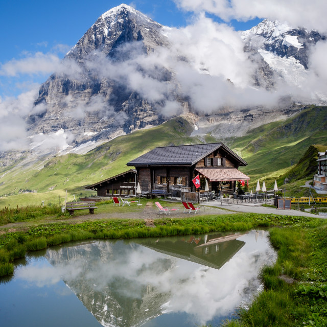 """Kleine Scheidegg, Switzerland"" stock image"