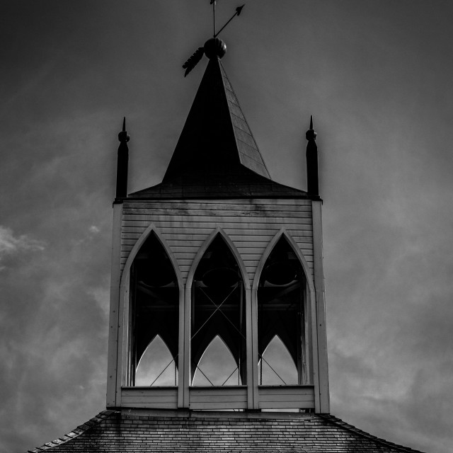 """Haunted Church Black&White"" stock image"
