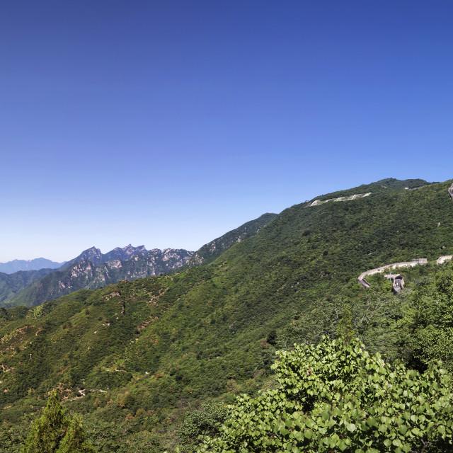 """""""Mutianyu Great Wall of China"""" stock image"""