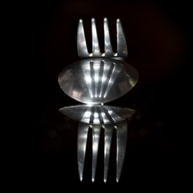 """Art in cutlery"" stock image"