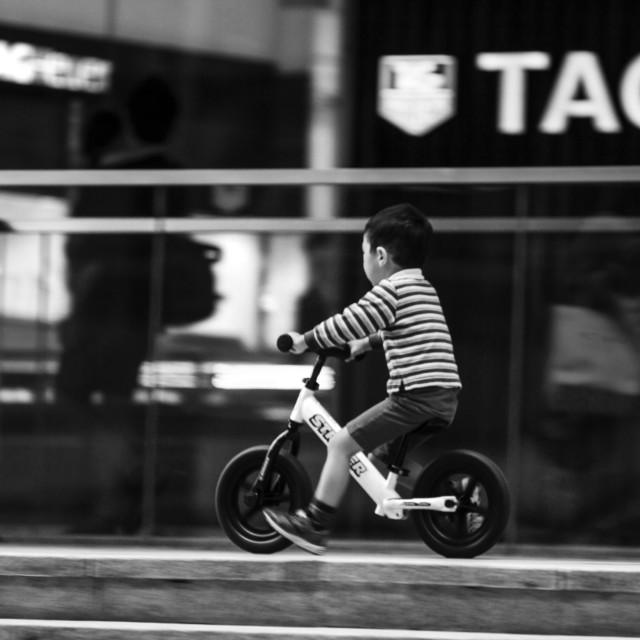 """boy on a bike"" stock image"
