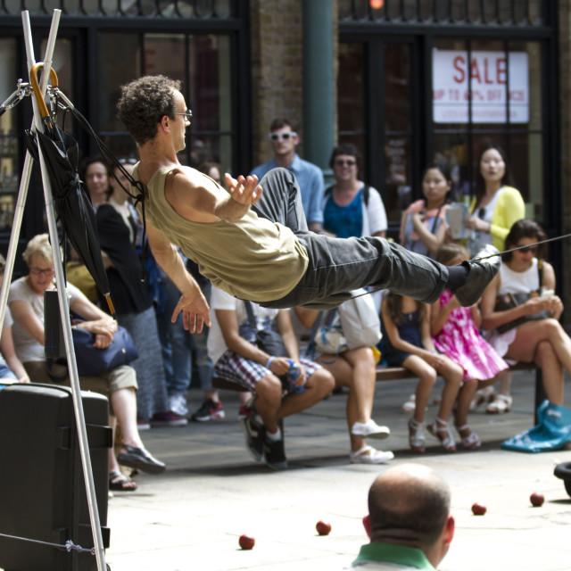 """balancing act performer"" stock image"