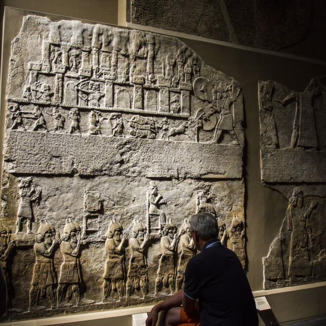 """visit to British Museum"" stock image"