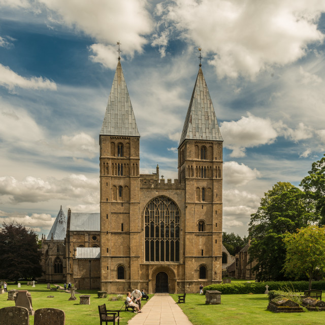 """""""Spires to the Clouds"""" stock image"""