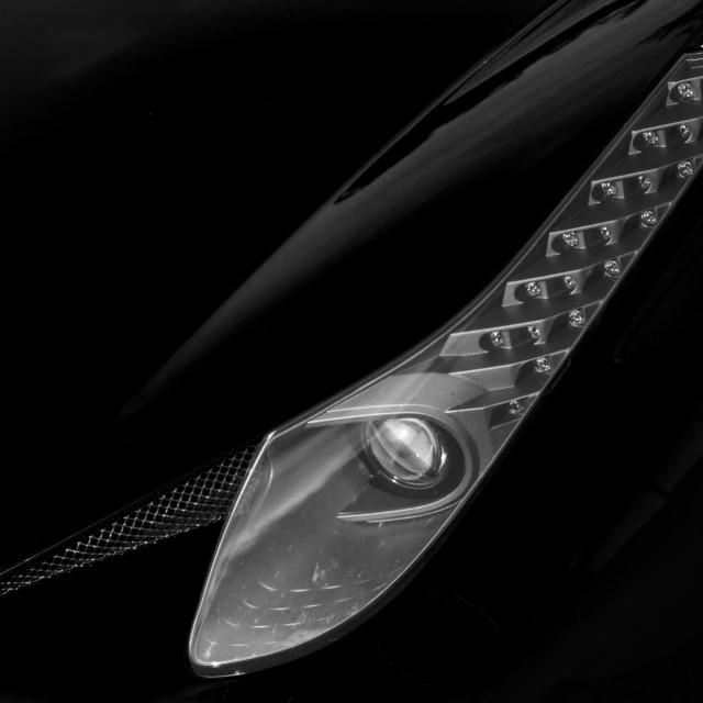 """""""Ferrari Front light"""" stock image"""