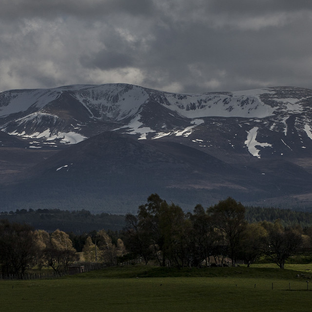 """Cairngorm Range - Scotland"" stock image"