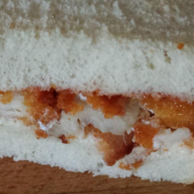 """Fish Finger Sandwich"" stock image"