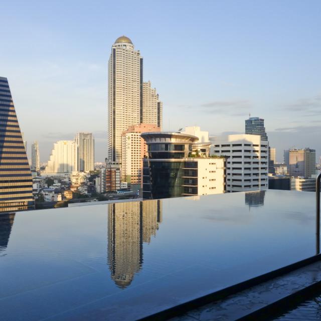 """Rooftop pool Bangkok"" stock image"