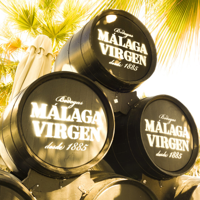 """""""Barrels from Bodegas"""" stock image"""