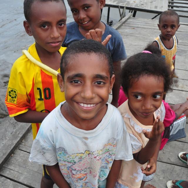 """""""Papua Kids"""" stock image"""