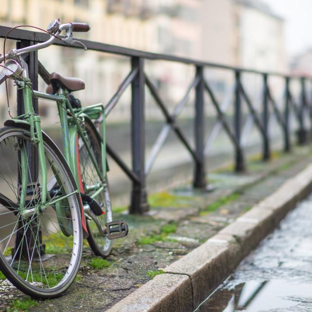 """""""bike - navigli Milano"""" stock image"""
