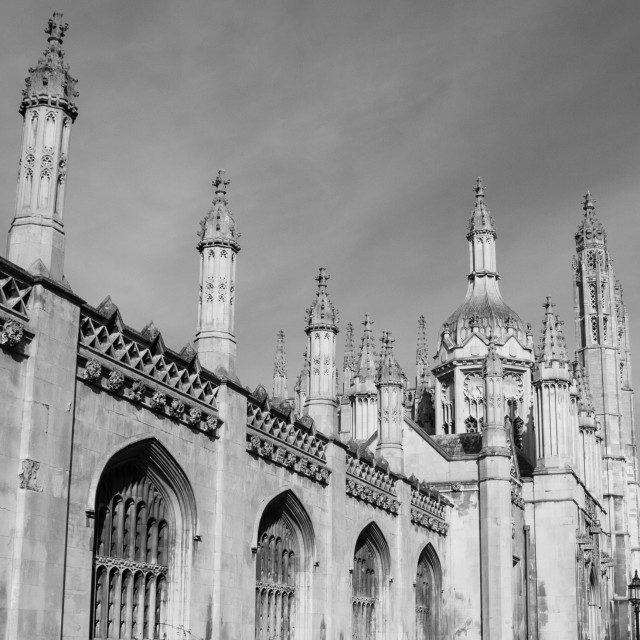 """""""King's College screen and gatehouse"""" stock image"""