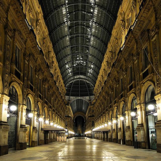"""""""Milano galleria Vittorio Emanuele II"""" stock image"""
