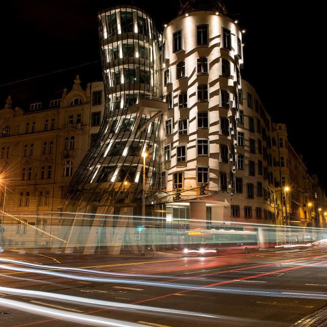 """Prague - dancing house"" stock image"