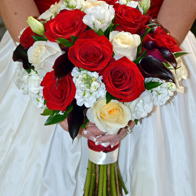 """Bridal roses bouquet"" stock image"