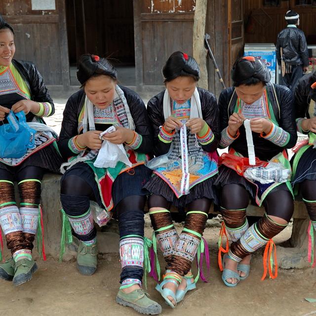 """""""BASHA FAMILY GIRLS"""" stock image"""