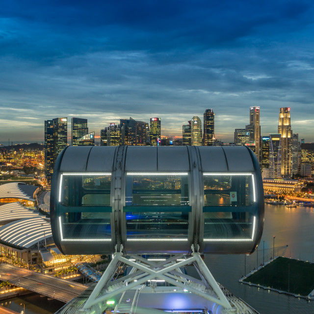 """Singapore Flyer Experience"" stock image"
