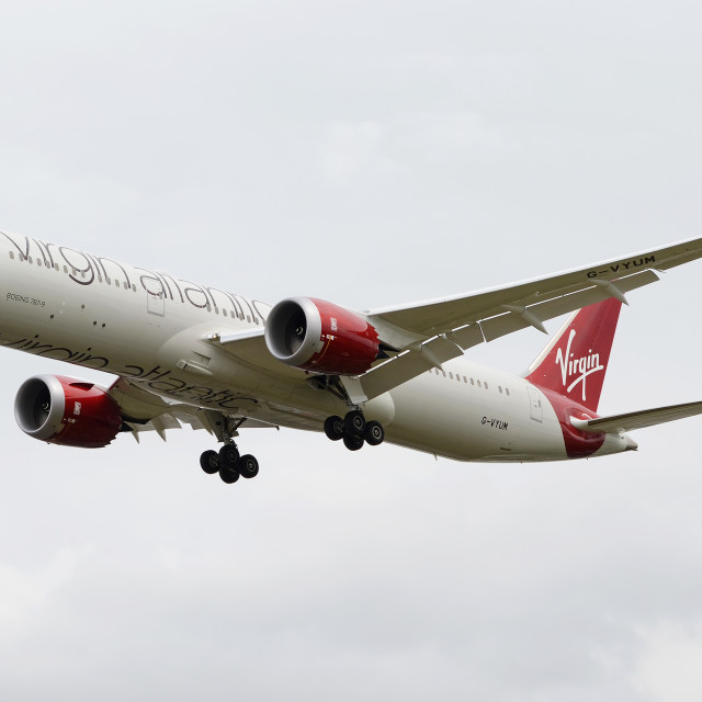 """Virgin Atlantic Boeing 787 Dreamliner"" stock image"