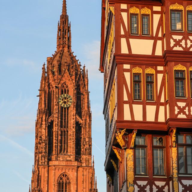 """Historic center of Frankfurt"" stock image"