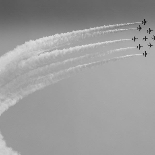 """""""Red Arrows display team"""" stock image"""