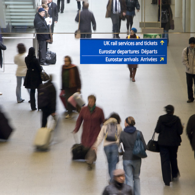 """London, St.Pancras Station."" stock image"