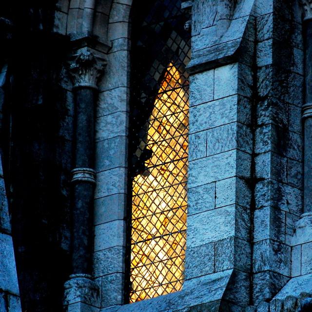 """Church window"" stock image"