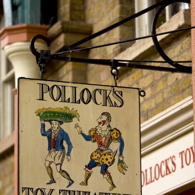 """Pollocks Toys, Covent Garden, London"" stock image"
