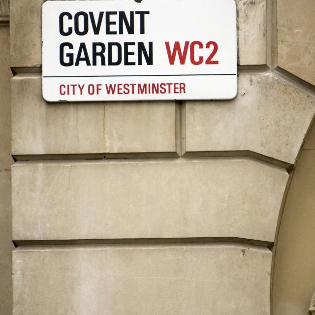 """Covent Garden , London."" stock image"