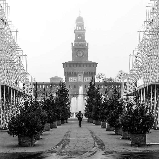 """Castello Sforzesco - Milano"" stock image"