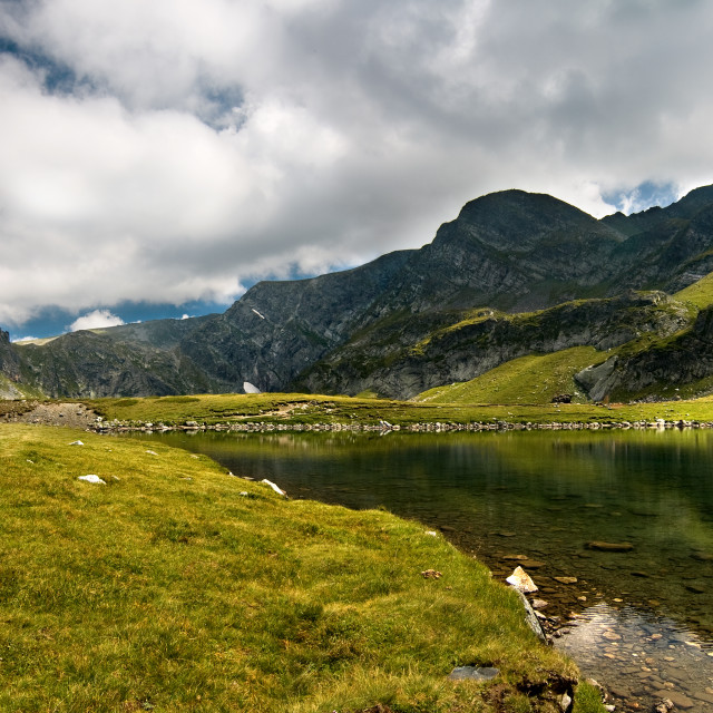 """Lake Babreka, peak Haramiata"" stock image"