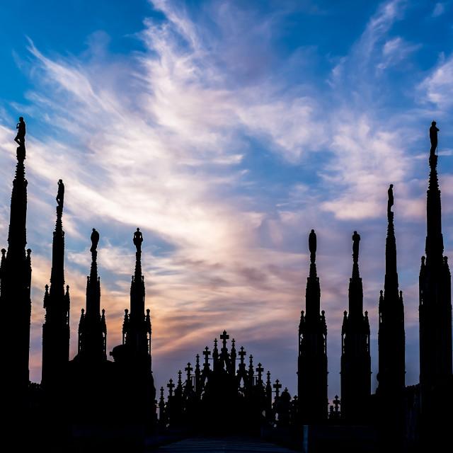"""sunset - Duomo"" stock image"