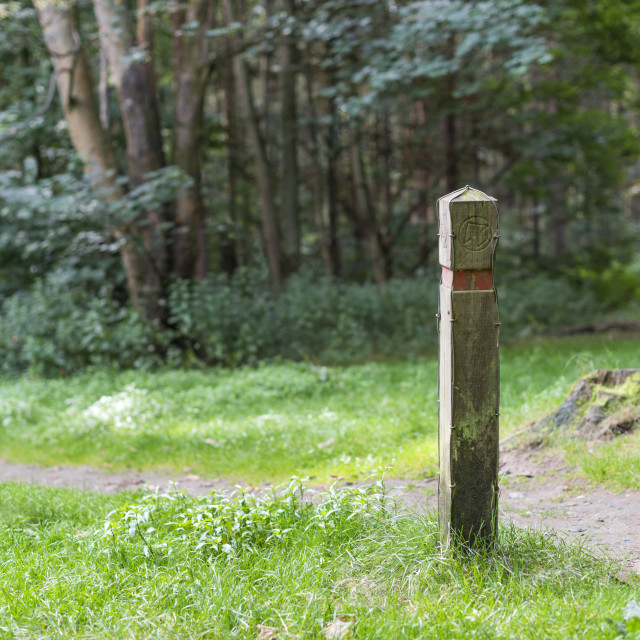 """""""Trail post"""" stock image"""