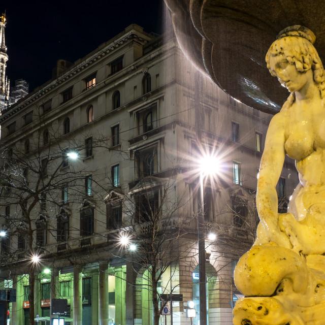"""""""Milano piazza Fontana"""" stock image"""