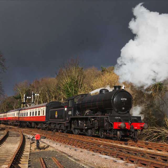 """Under stormy skies at Holt"" stock image"