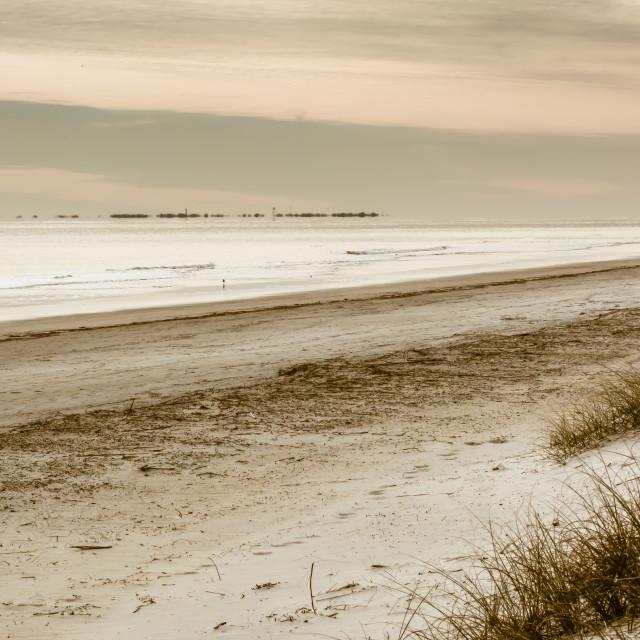 """""""Deserted Beach"""" stock image"""