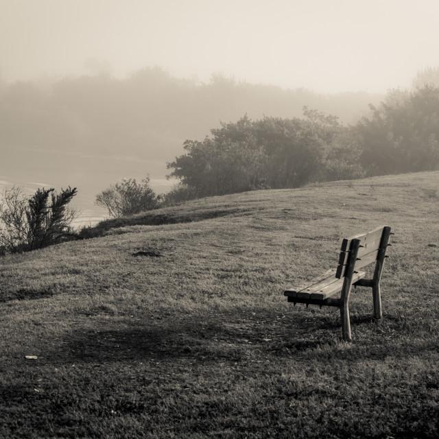 """""""Foggy sunrise"""" stock image"""