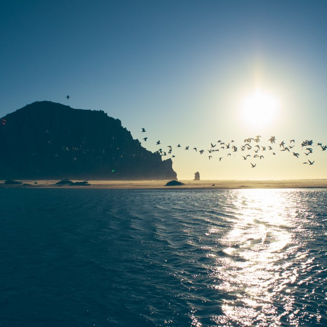 """Morro Rock, California"" stock image"