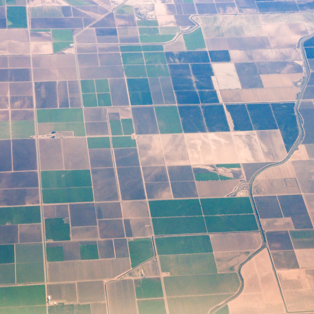 """Fields from the air"" stock image"