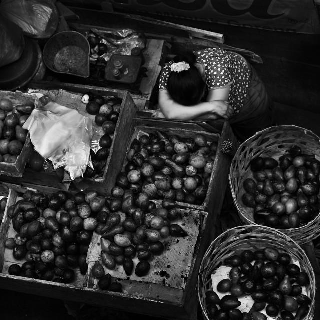 """""""Pasar Badung Bali, Denpasar"""" stock image"""