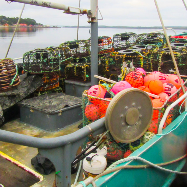 """Crab Boat ready to go to sea"" stock image"