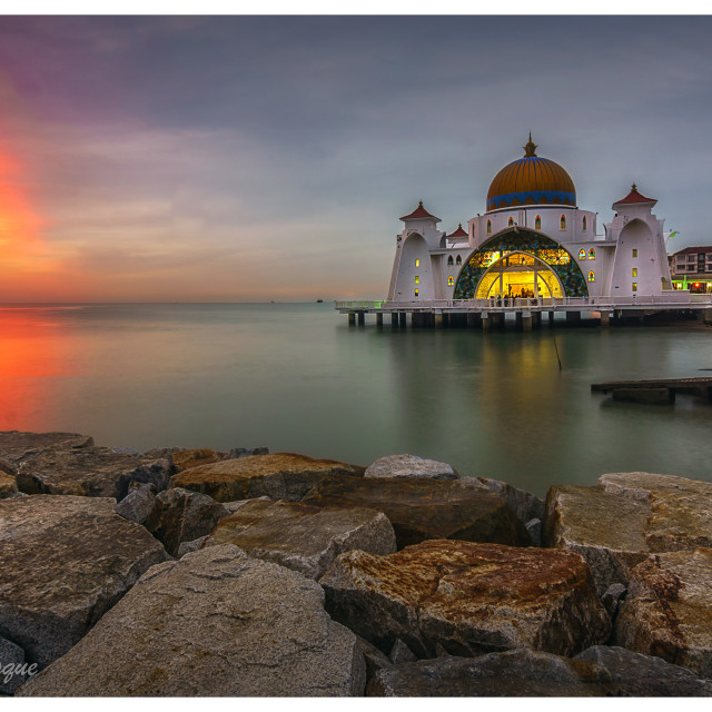 """Malacca Straight Mosque"" stock image"