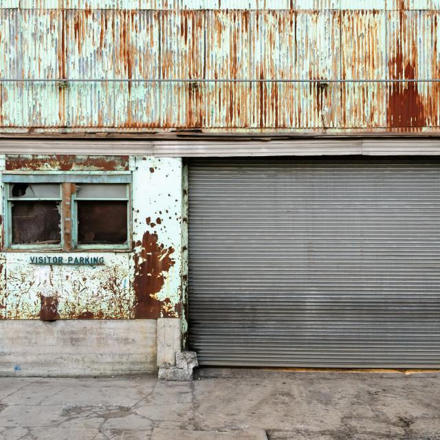 """Rusty Garage"" stock image"