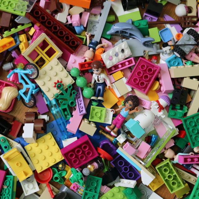 """""""Pile of bricks"""" stock image"""