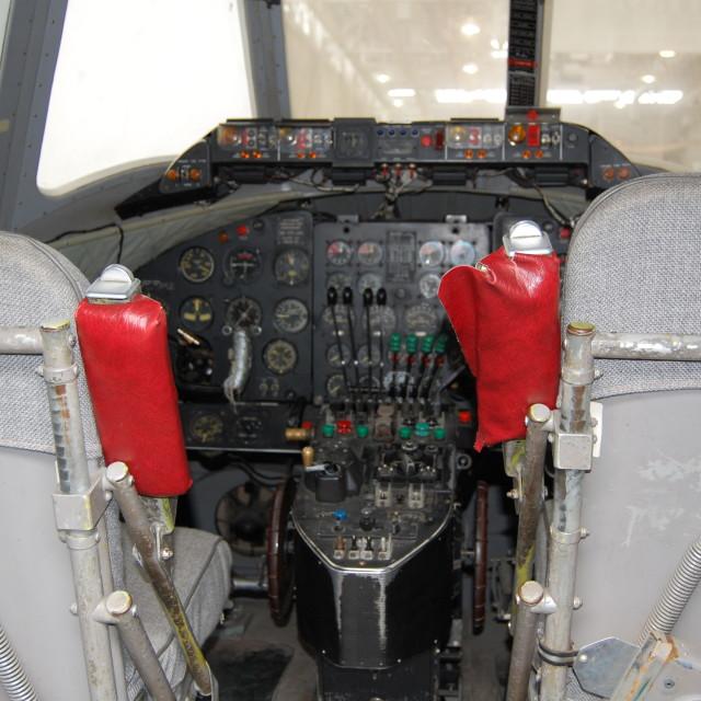 """Flight deck"" stock image"