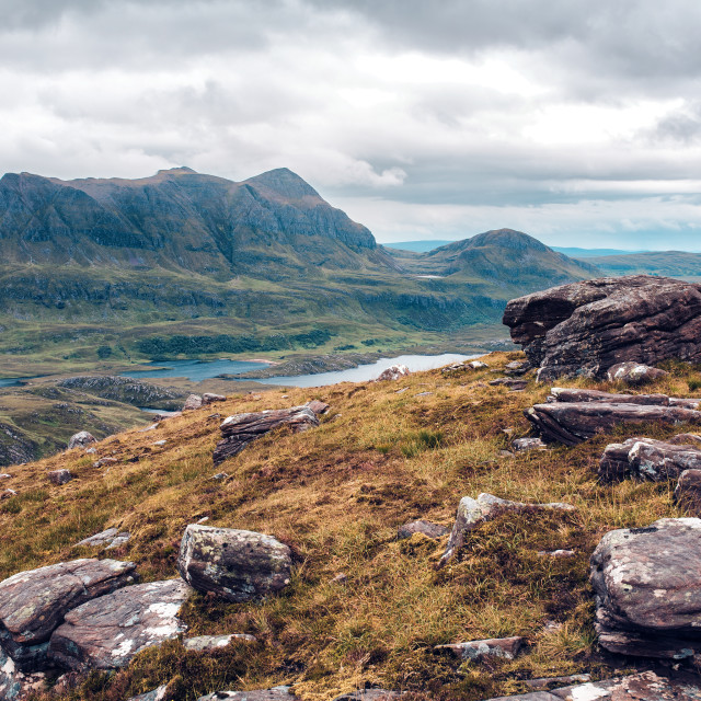 """View from Stac Pollaidh"" stock image"