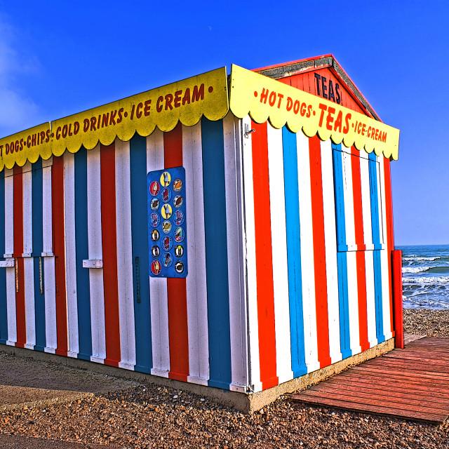 """Seaside refreshments"" stock image"