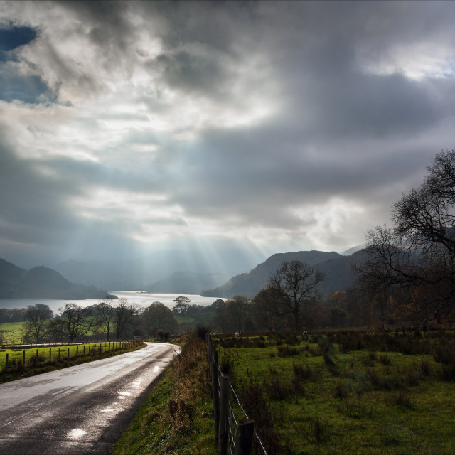 """A moody day at Ullswater"" stock image"