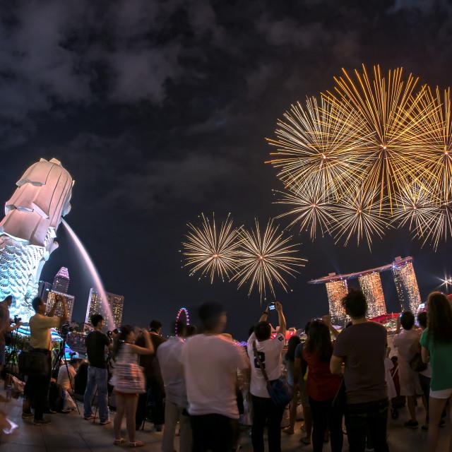 """SG50 Fireworks Rehearsal"" stock image"