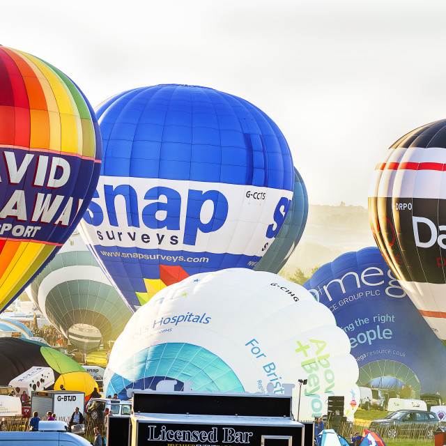 """Bristol International Balloon Fiesta"" stock image"