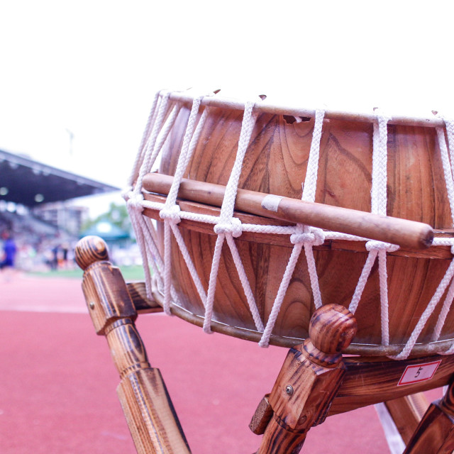 """""""Korean cymbal at festival grounds"""" stock image"""